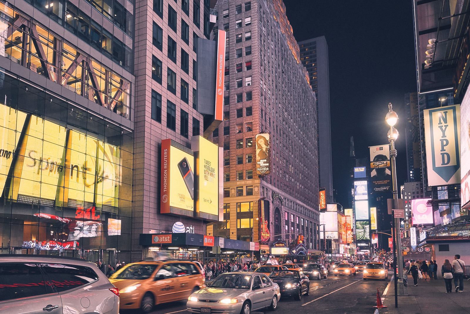 Street in New York City at Night