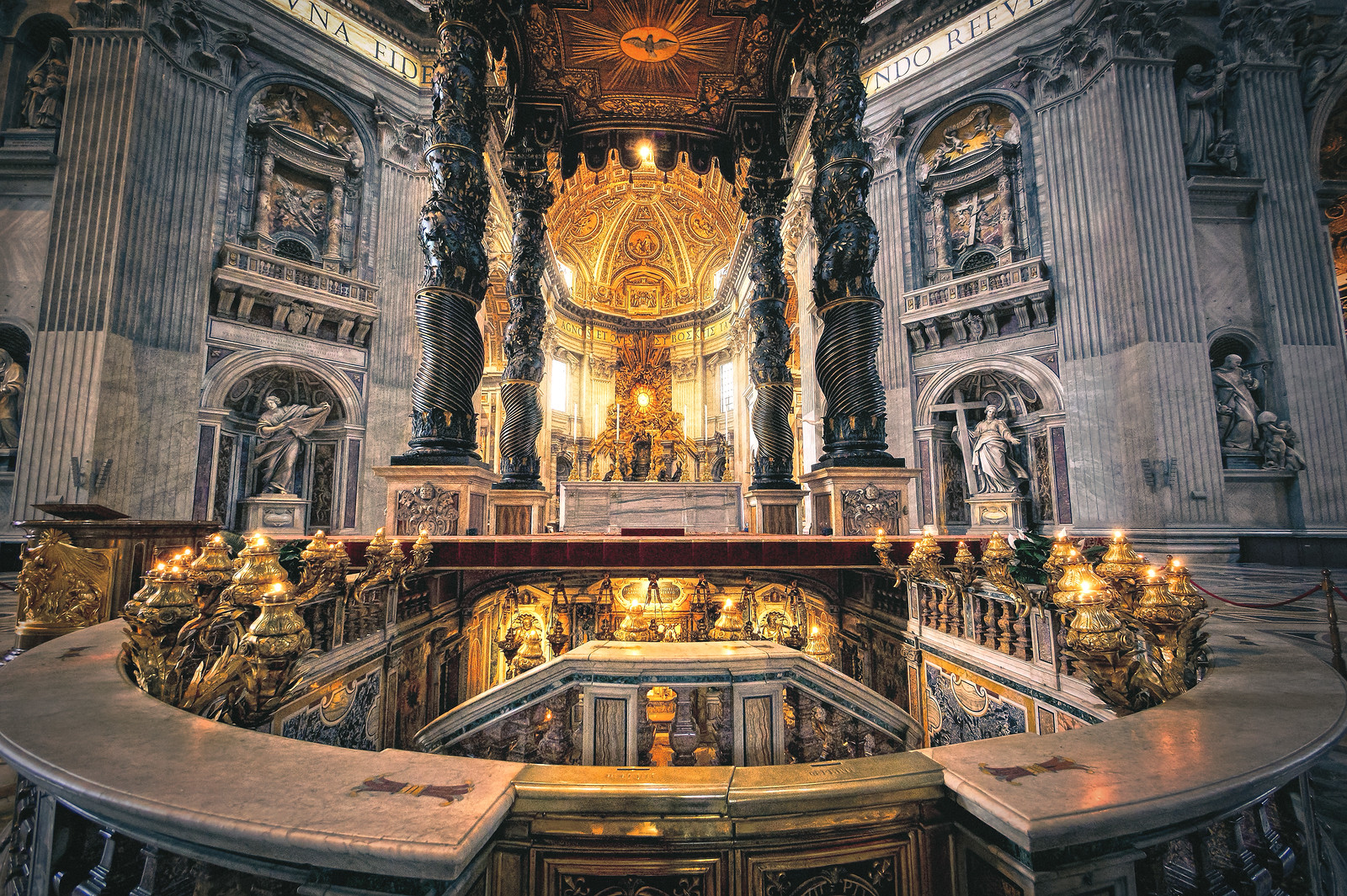High Altar of St Peters Basilica Rome Italy