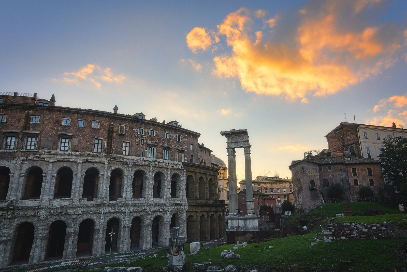 Buildings and Ruins in Rome Italy