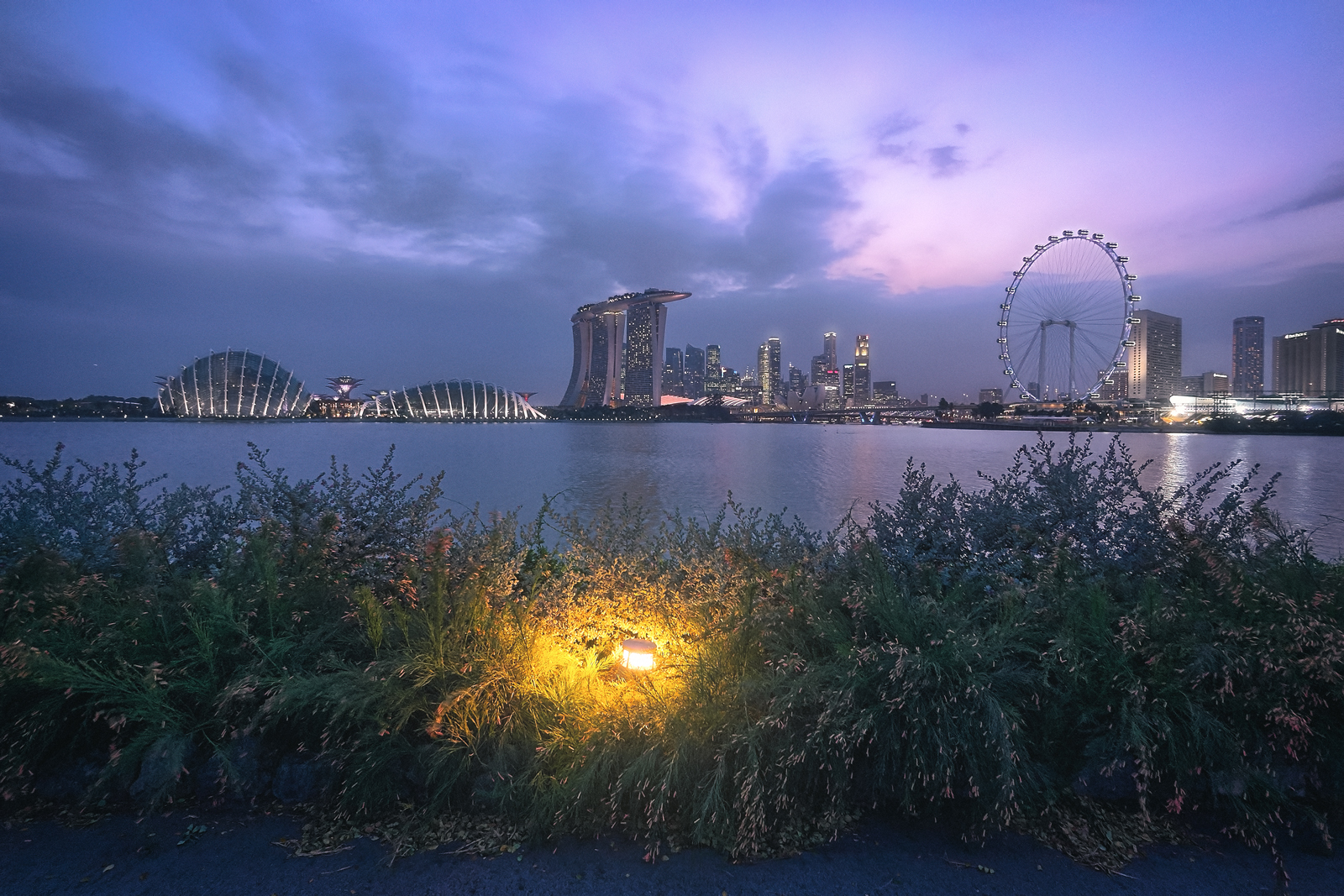 Night at Gardens Bay East Singapore