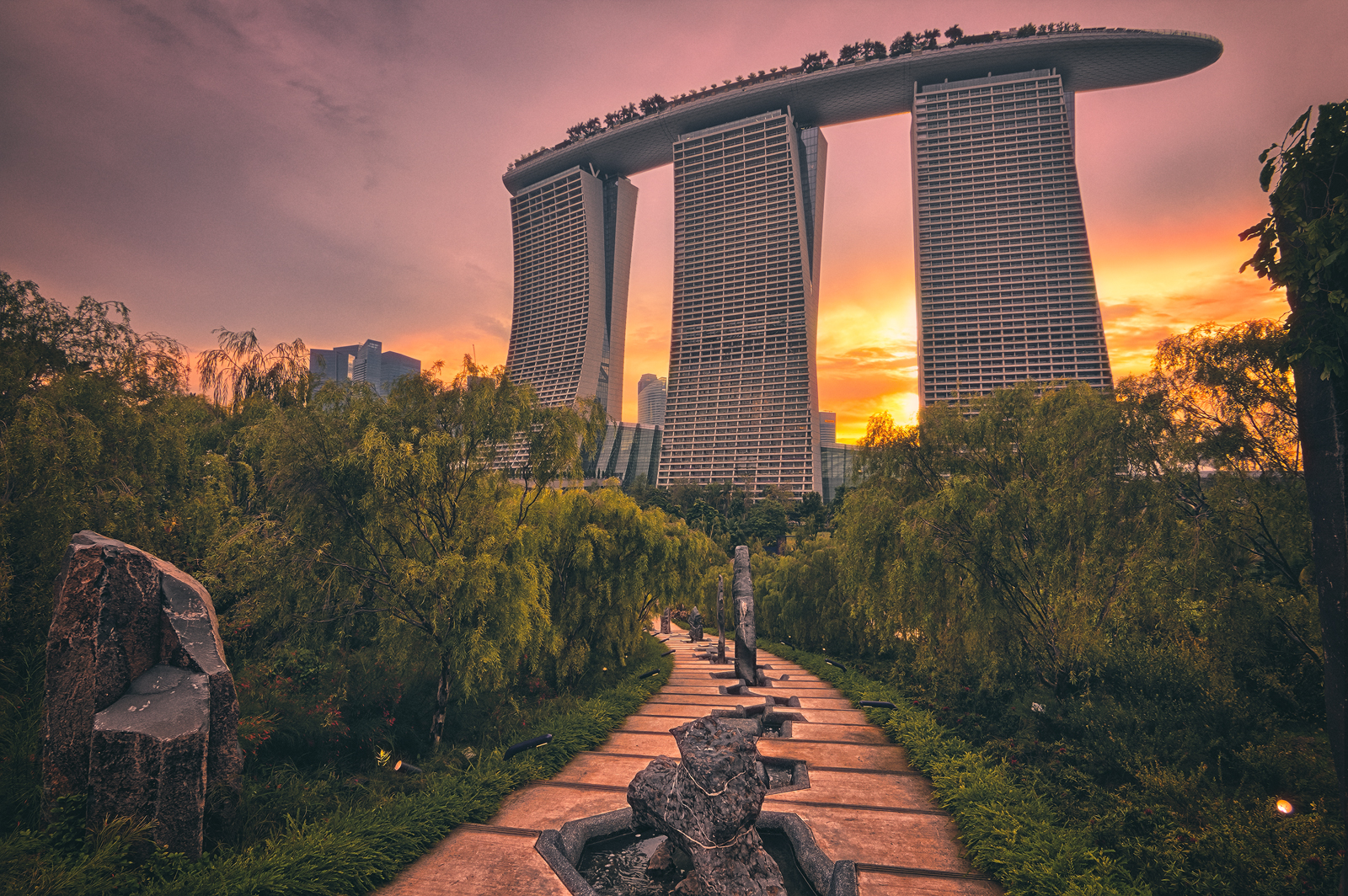 Path to Marina Bay Sands Singapore