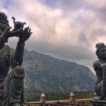 Bodhisattvas Statues at Lantau Island Hong Kong