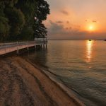 Changi Beach Sunset Singapore