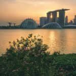 Sunset at Bay East Garden Singapore