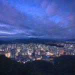 City of Seoul Korea at Dusk
