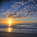 Sunrise over the Pacific Ocean Gold Coast Queensland