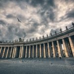 Stormy Clouds at St Peters Square Vatican City Rome