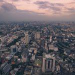 Aerial View of Bangkok City Thailand